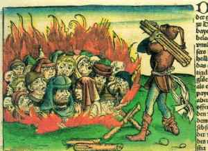 Jews-burned-by-Hartmann-Schedel-1493